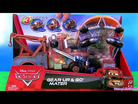 Cars 2 Gear Up and Go Lightning McQueen With Spy Mater Buildable Toys Review Disney Pixar