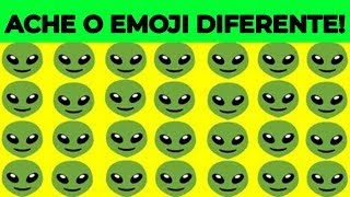 ENCONTRE O EMOJI DIFERENTE SE FOR UM GÊNIO | Top Quiz