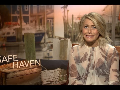 Julianne Hough & Josh Duhamel - Fun Safe Haven Interviews!