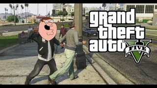 GTA 5 FUNNIES MONTAGE #1 - DEMON DOG, PETER GRIFFIN, SLEEPING HOOKER! (GTA V Gameplay)