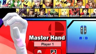 Super Smash Bros Ultimate Play As Master Hand - Boss Character | World Of Light Gameplay