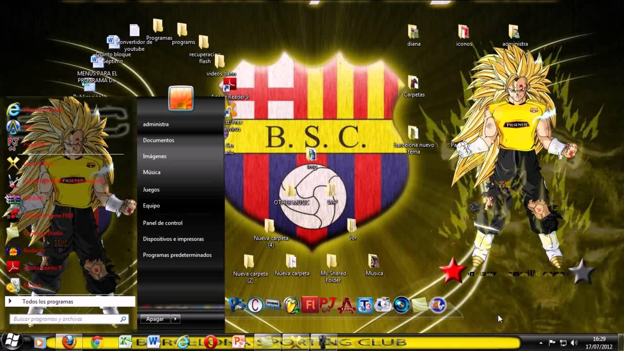 Nuevo tema del barcelona sporting club para windows for Club de fumadores barcelona