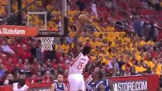 """""""He's Out the D-League!"""" Clint Capela's alley-oop from James Harden"""