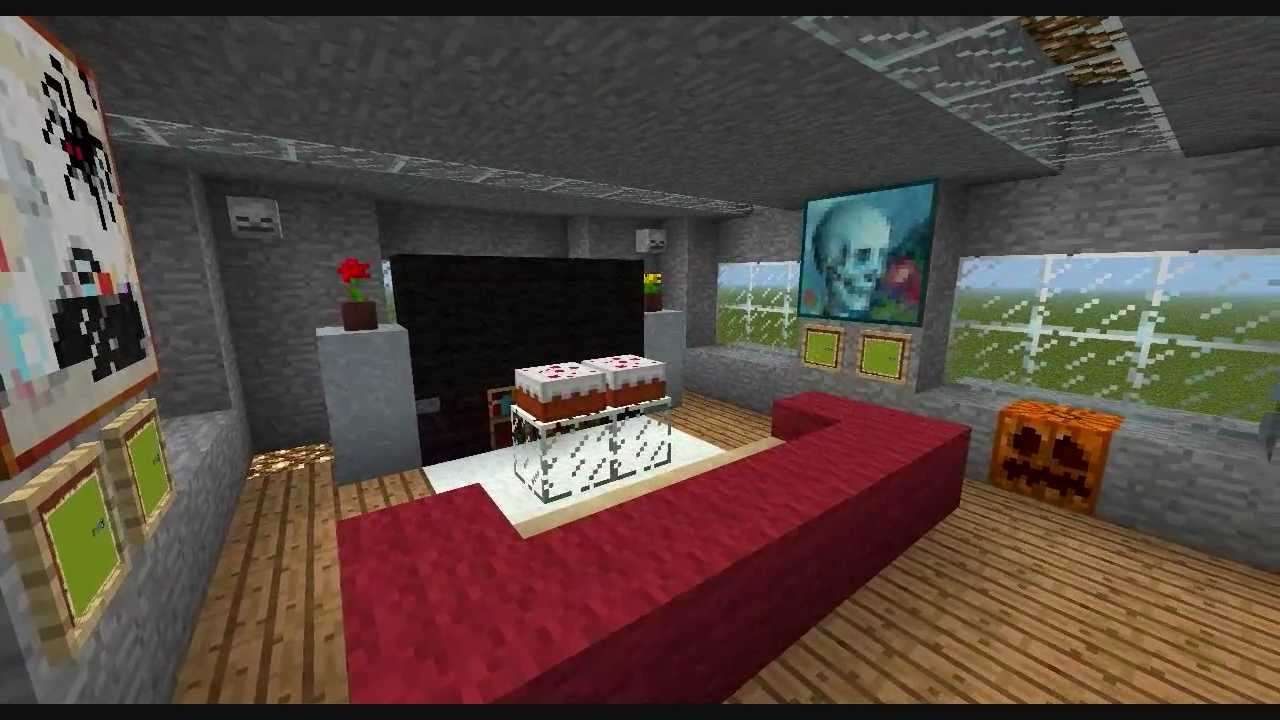 minecraft how to make a living room