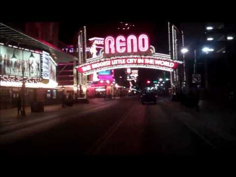 Downtown Reno, Nevada At Night
