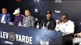 SERGEY KOVALEV v ANTHONY YARDE (OFFICIAL) PRESS CONFERENCE WITH EGIS KLIMAS & TUNDE AJAYI / RUSSIA