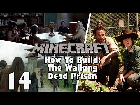 Minecraft: How to Build The Walking Dead Prison Ep.14 - Mechanic Area and E Block