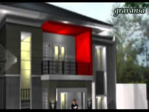 Gravansa @ Animasi 3D Gambar Desain  Rumah Tinggal