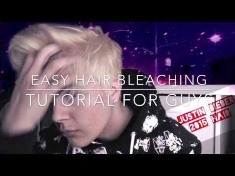 How to bleach your hair EASY (Justin Bieber style 2015/2016)