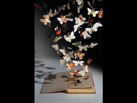 Butterfly Book Sculpture Diy Youtube