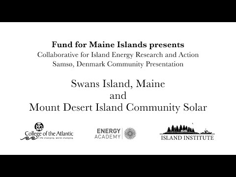 CIERA Visits Samsø: Swans Island and MDI Solar Community Presentation