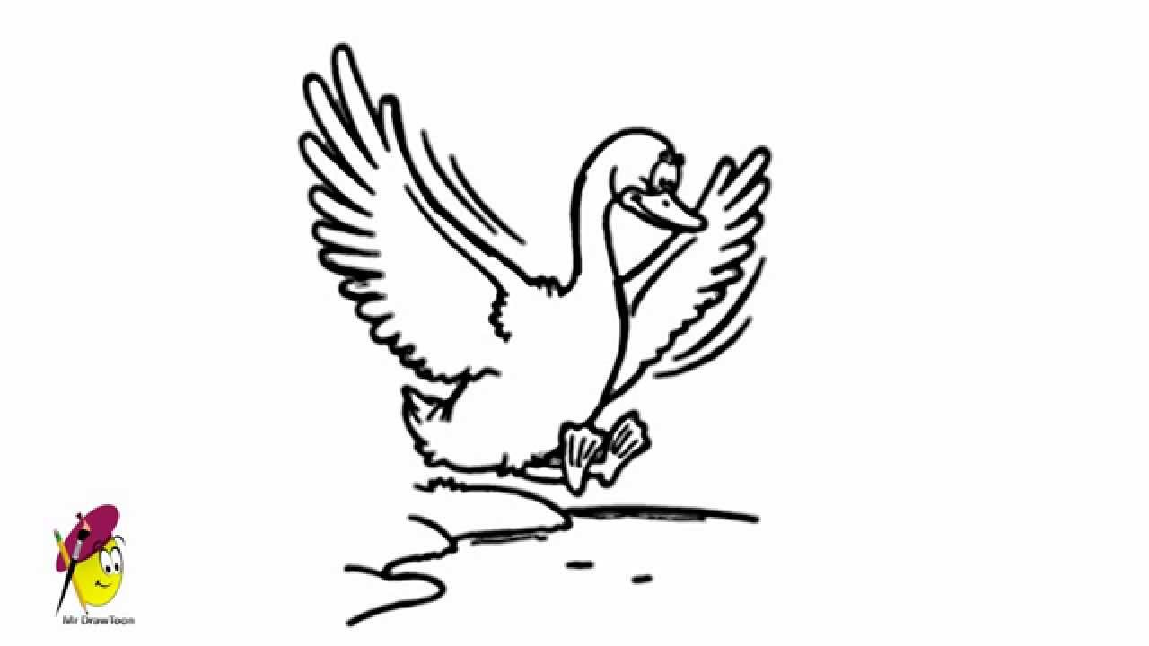 Geese Flying Drawing Flying Goose How to Draw a
