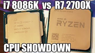 Intel i7 8086K vs Ryzen 7 2700X Showdown - Is Stock 5GHz Worth It?