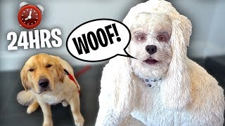 TRANSFORMING INTO A DOG FOR A DAY!! (24 hr challenge)