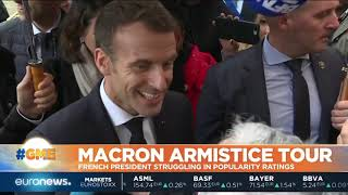 Macron Armistice tour against a backdrop of low popularity | #GME