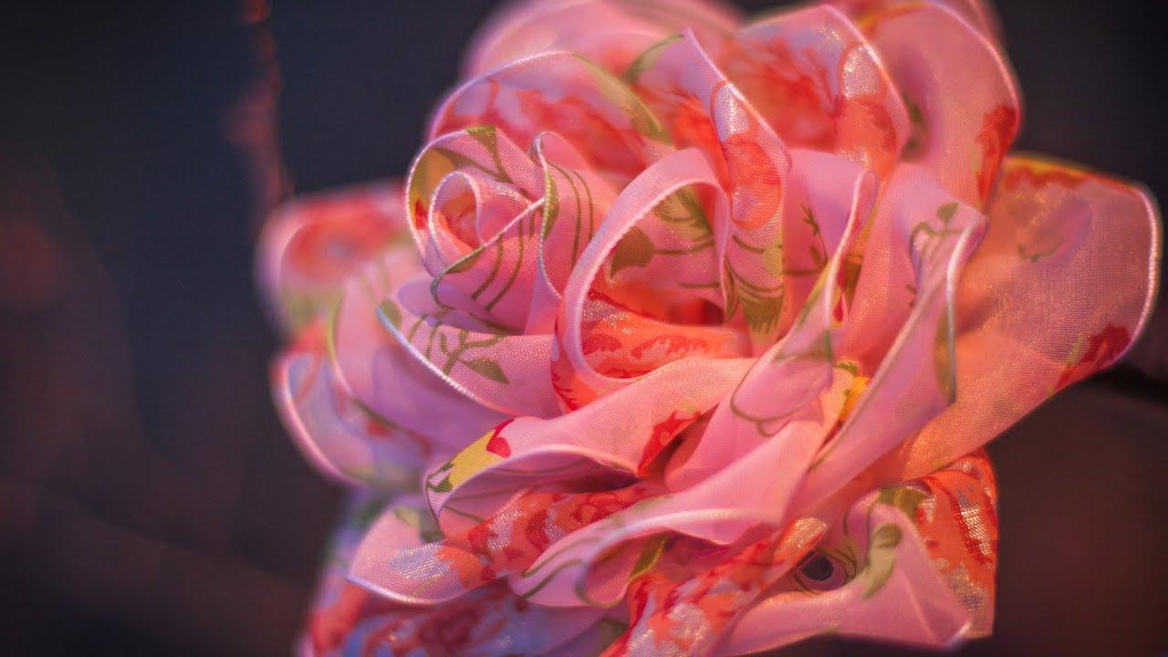 Как сделать цветы из прозрачной ткани