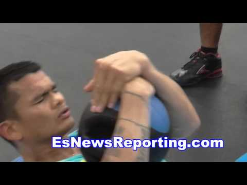 FLOYD MAYWEATHER VS MARCOS MAIDANA 2 chino fitness workout EsNews