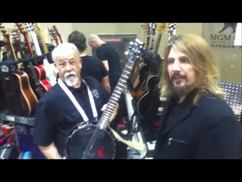 dean 6 string banjo ganjo guitar review open e tuning with guitar tech ed and sammy