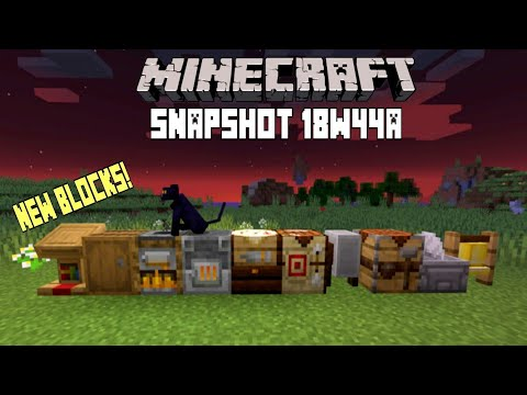 Minecraft 1.14 Snapshot 18w44a- New Crafting Blocks, New Cats & More!