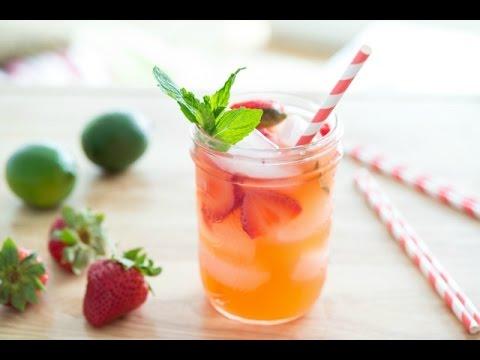 STRAWBERRY LIMEADE RECIPE - Easy & Refreshing Summer Drink Recipe - Fifteen Spatulas