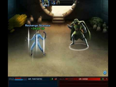 Marvel Avengers Alliance Heroic Battle: Mr. Fantastic Vs Dr. Doom