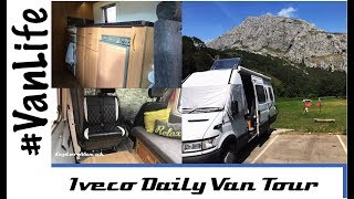 Our latest van - Family of four in a camper van, Interior tour of our Iveco Daily - UK VanLife