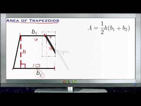Area and Perimeter of Trapezoids Principles - Basic