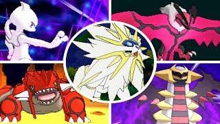 Pokémon Ultra Sun / Moon - All Legendary Pokémon + Signature Moves