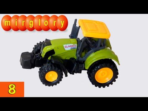 Машинки мультфильм - Город машинок - 8 серия: Трактор. Развивающие мультики