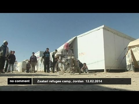 Syrian refugees react to peace talks in Geneva - no comment