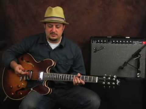 Demo Heritage semi hollowbody guitar based off Gibson ES 335