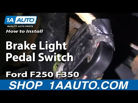 How to install replace brake light pedal switch ford f250 f350 1999 06