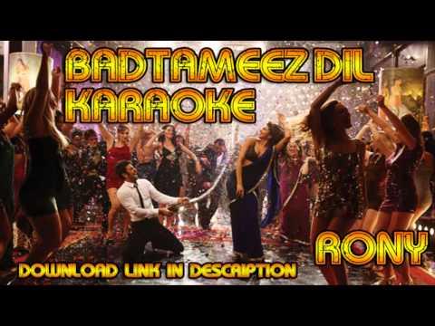 Badtameez Dil Karaoke [with Background Vocals + Download Link] video