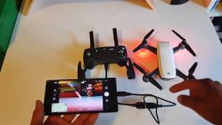 How to: Connect Controller to DJI SPARK with OTG!!