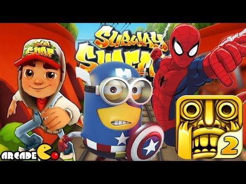 Despicable Me 2 Minion Unlimited Spiderman Temple Run 2 Subway Surfers World Tour Paris