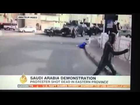 Saudi Arabia  King Uses Tanks Against Protesters While Condemning Syria At UN on Human Rights