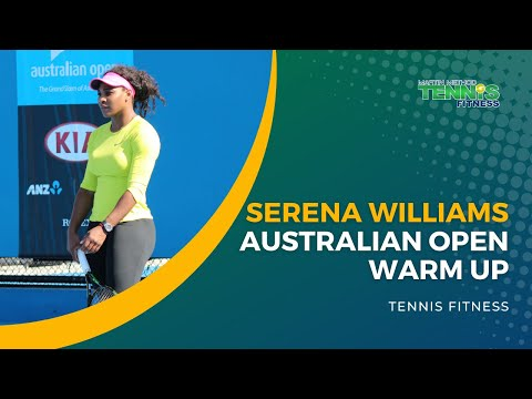 Serena Williams Australian Open Warm Up