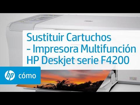 Sustituir Cartuchos - Impresora Multifunción HP Deskjet serie F4200