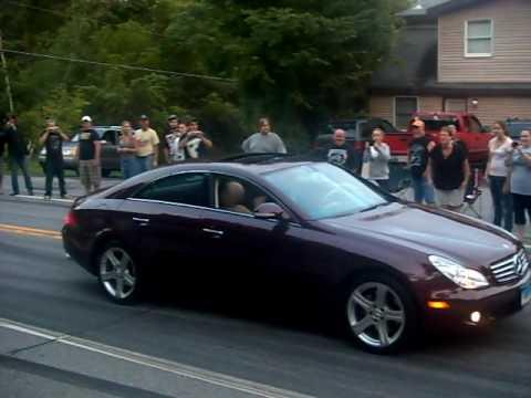 Mercedes Benz CLS: Burnout FAIL !!!
