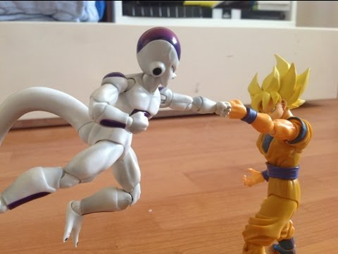 Frieza Vs Goku Stop Motion Dragon Ball Part 1 video