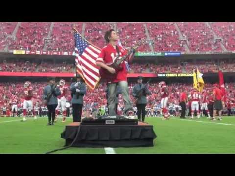 12 year old Aidan Fisher - Kansas City Chiefs National Anthem
