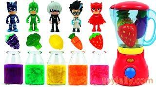 Learn Colors Feeding Yummy Food PJ Masks Baby Dolls Fruits Vegetables Blender Toys Songs for Kids