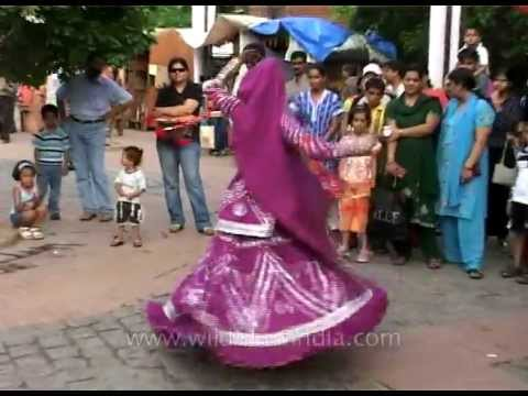 Ghoomer - Full of energy Rajasthani folk dance Dilli Haat