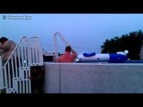 Лестница для бассейна из пластиковых труб своими руками 667
