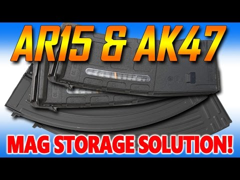 Organize your AR and AK Magazines!!  My storage solution!