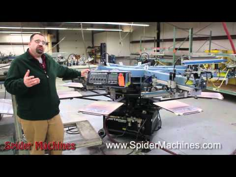 M&R Sportsman - Automatic Screen Printing Equipment - Robert Barnes - Spider Machines