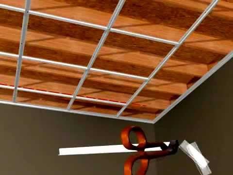 Ceilingmax Surface Mount Ceiling Grid Installation Youtube