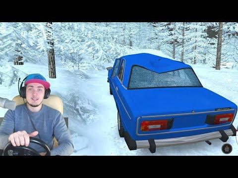 ЕДУ К БАБУШКЕ - ЗИМНИЕ ПОКАТУШКИ в BeamNG Drive + РУЛЬ
