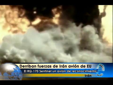 Derriban fuerzas de Irán avión de ESTADOS UNIDOS USA EEUU
