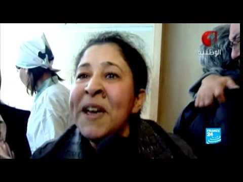 image vid�o أخت شكري بلعيد تندد بعملية الإغتيال